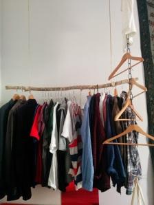 Kleiderstange und Kette