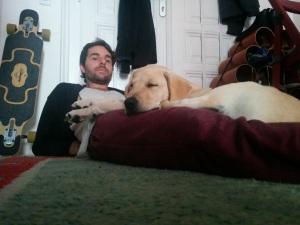 Chewy und ich entspannen am Sonntag