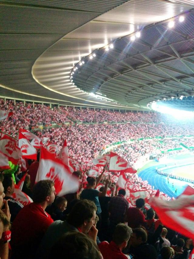 Unglaubliche Stimmung im Stadion