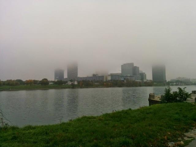 Donauinsel im Nebel